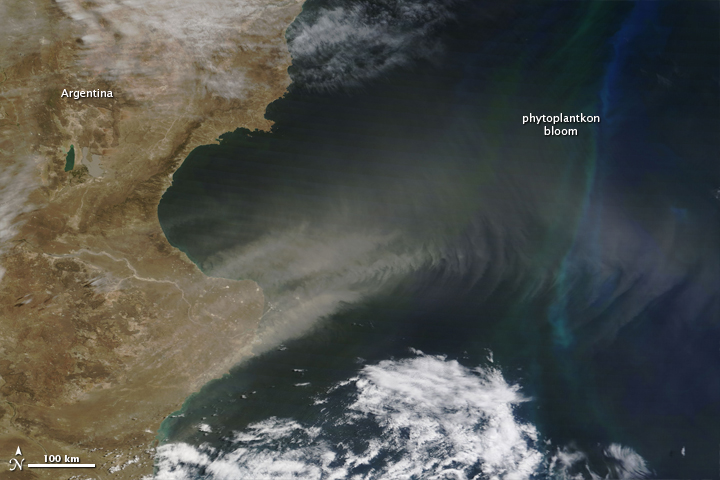 Patagonian Dust over the Atlantic Ocean
