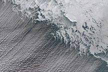 Ice and Clouds in the Bering Strait