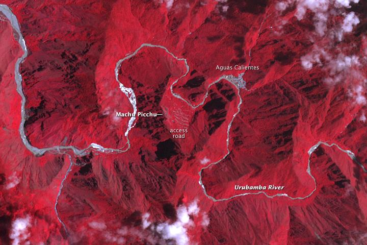 Flooding Near Machu Picchu  Peru   Natural Hazards