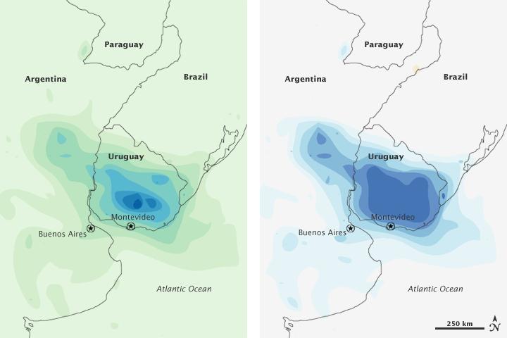 Heavy Rain in Uruguay
