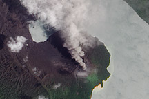 Eruption of Gaua Volcano
