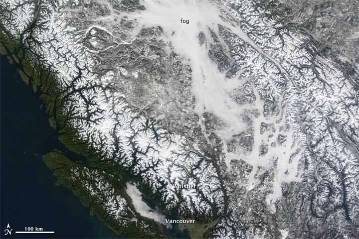 Valley Fog in British Columbia
