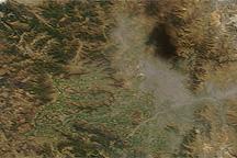 Haze Over Santiago Following 8.8 Earthquake