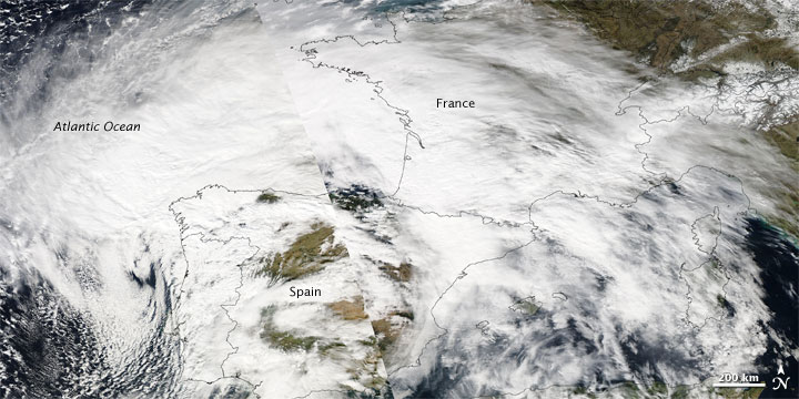 Violent Storm Strikes Western Europe