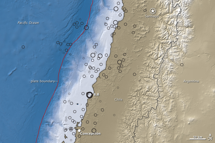 8.8 Magnitude Quake near Concepcion, Chile