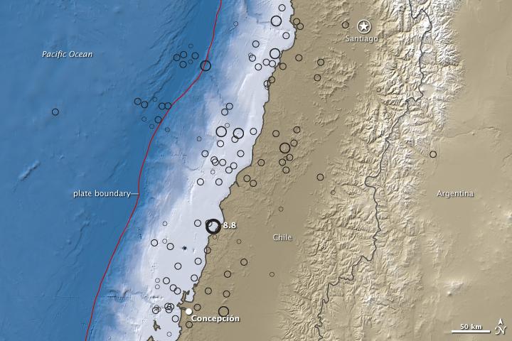 8.8 Magnitude Quake near Concepcion, Chile