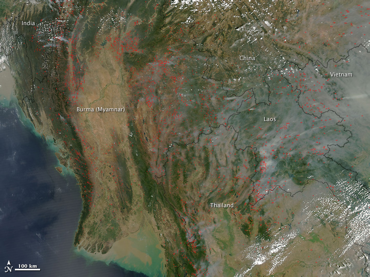 Fires and Smoke Across Southeast Asia