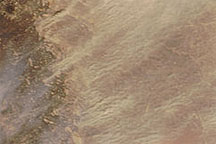 Dust Plumes over Jordan, Syria, and Iraq