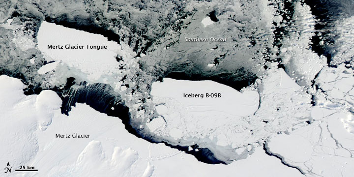 Icebergs off the Antarctic Coast