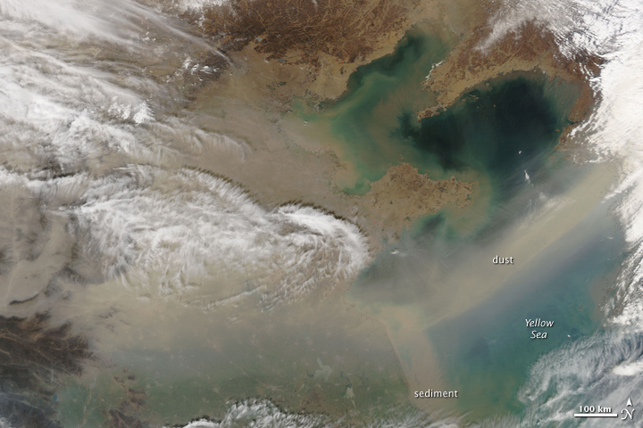 Dust over China