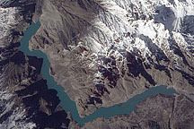 Landslide Lake in Northwest Pakistan