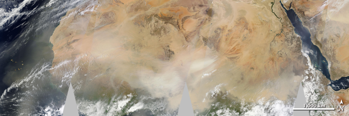 Massive Dust Storm Sweeps Across Africa