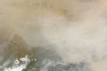 Massive Dust Storm Sweeps Across Africa