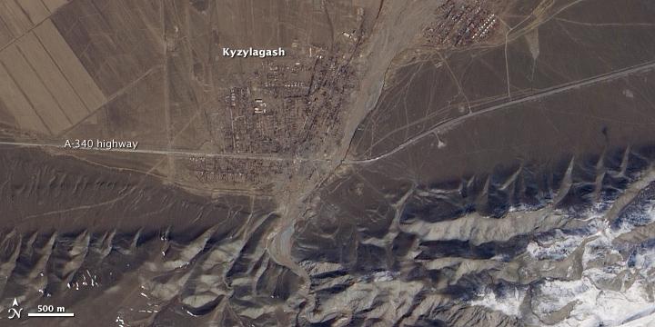 Dam Failure near Kyzylagash, Kazakhstan