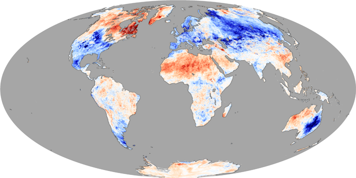 Temperature Anomalies, Winter 2009-2010