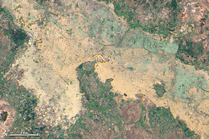 Flooding near the Betsiboka River, Madagascar