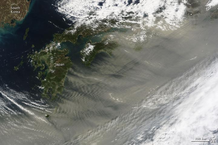 Spring Sandstorm Scours China