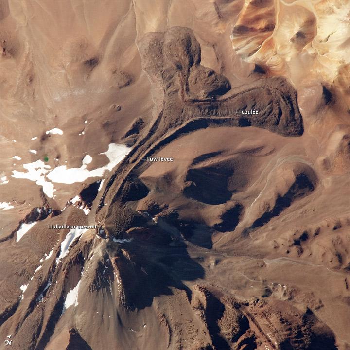 Llullaillaco Volcano, Argentina-Chile Border
