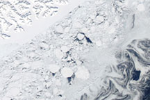 Varied Ice Shapes along the Greenland Coast
