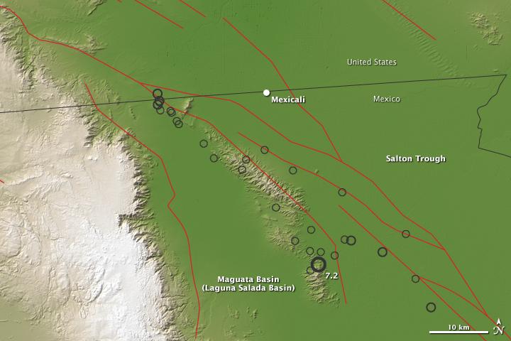 7.2-Magnitude Quake near Mexicali, Mexico