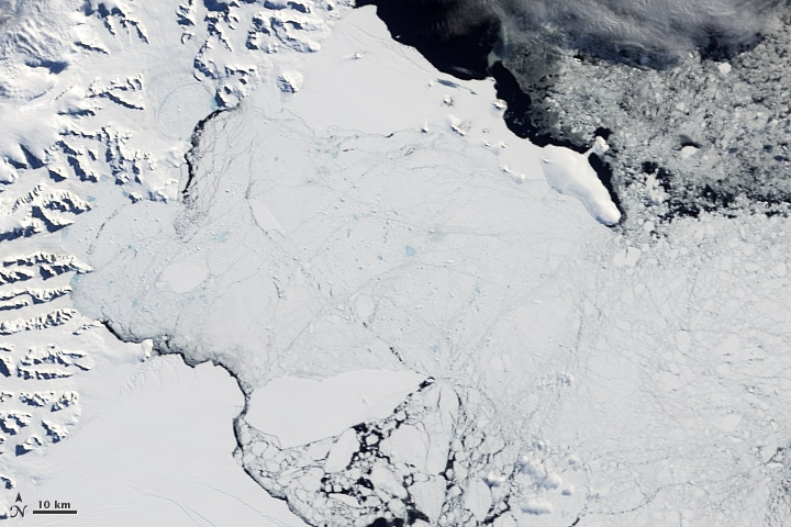 Fragments of Larsen B Ice Shelf Lingered Until 2005