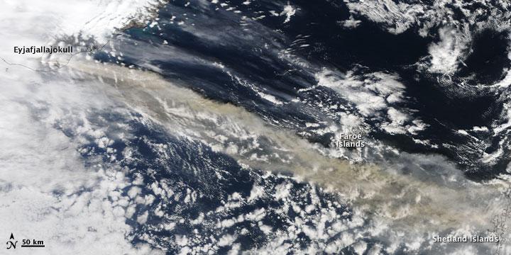 Ash Plume across the North Atlantic