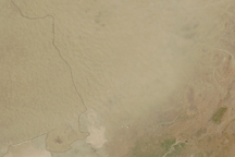 Dust over Pakistan and India