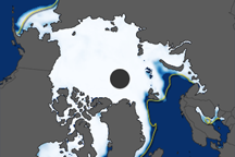 Arctic Sea Ice Extent, 2009-2010