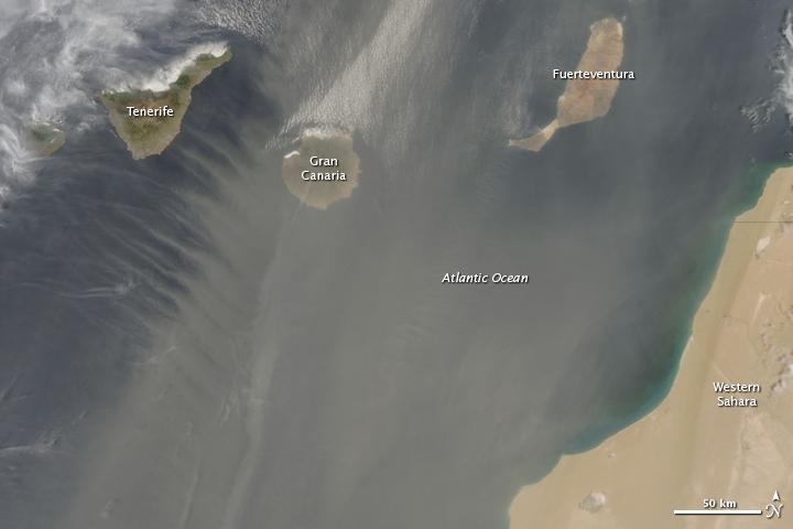 Sahara Dust over the Canary Islands