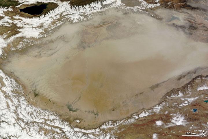 Dust in Northwestern China