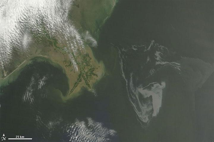 Oil Slick Near Mississippi Delta