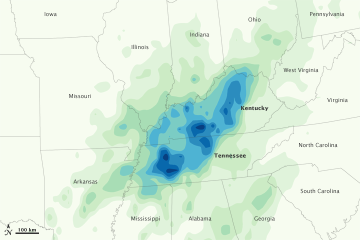 Heavy Rains in Kentucky and Tennessee