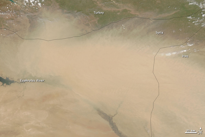 Dust over Syria