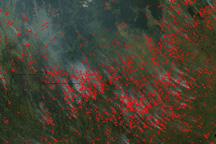Fires in Democratic Republic of Congo