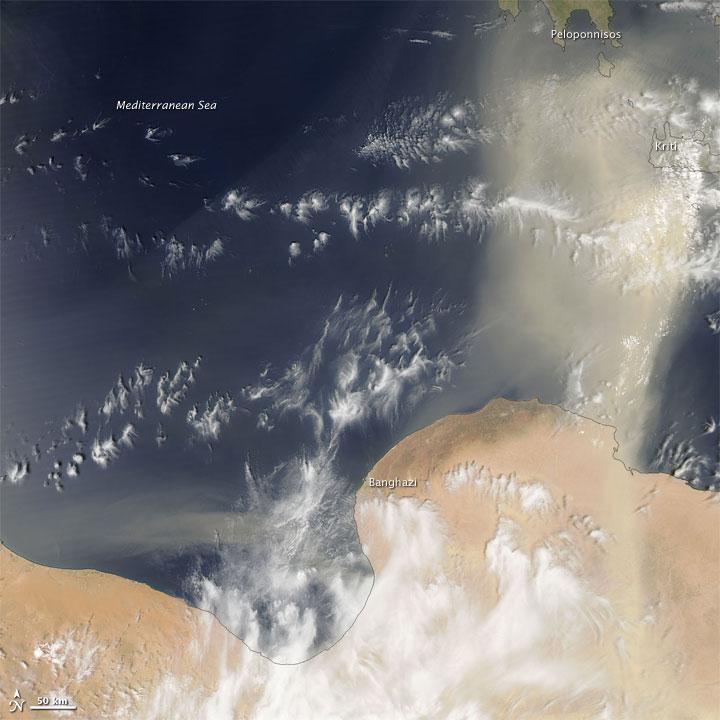 Dust Storm off Libya