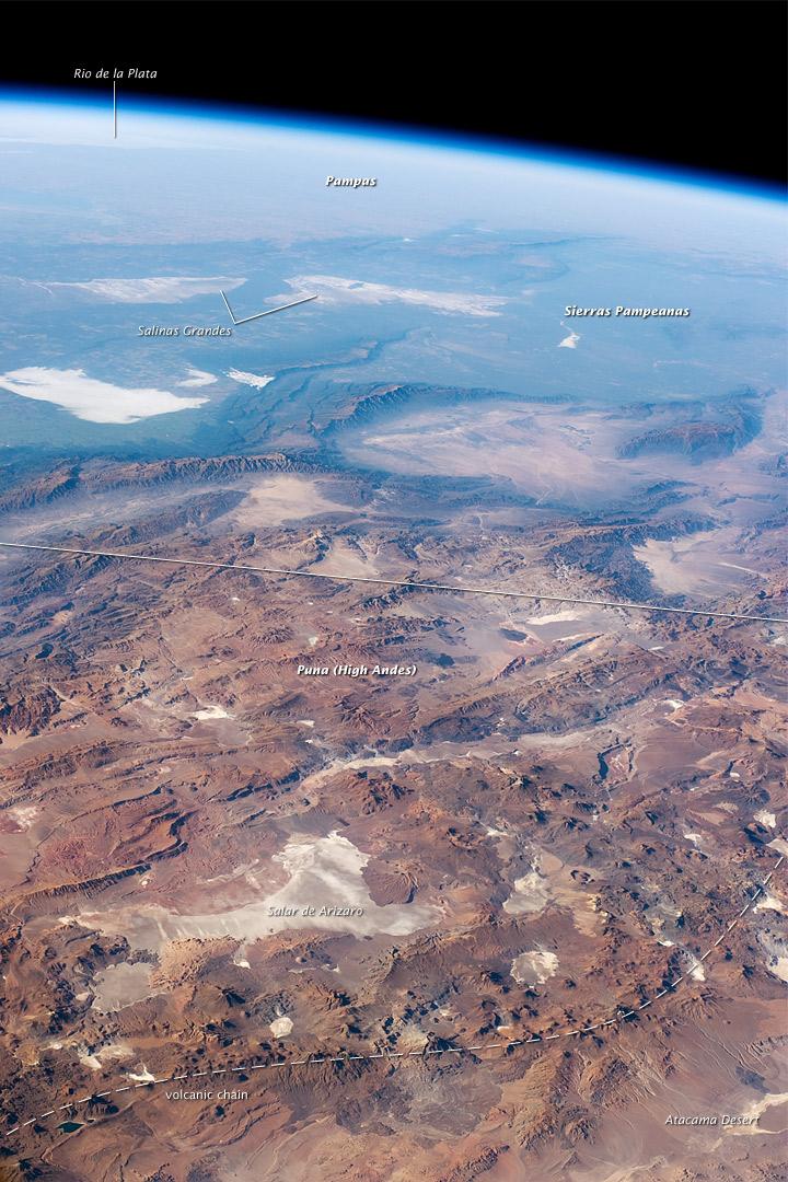 Panorama of Central Andes Mountains, Salar de Arizaro, Argentina