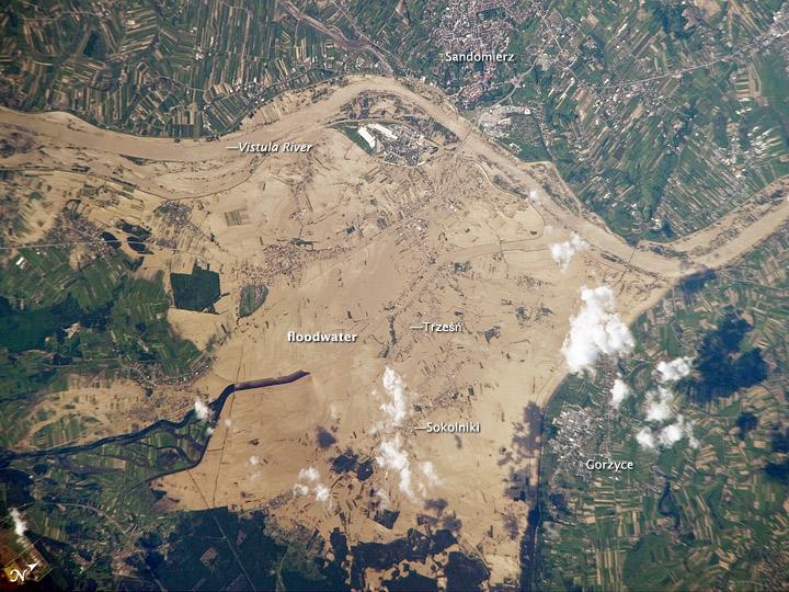 Vistula River Flooding, Southeastern Poland