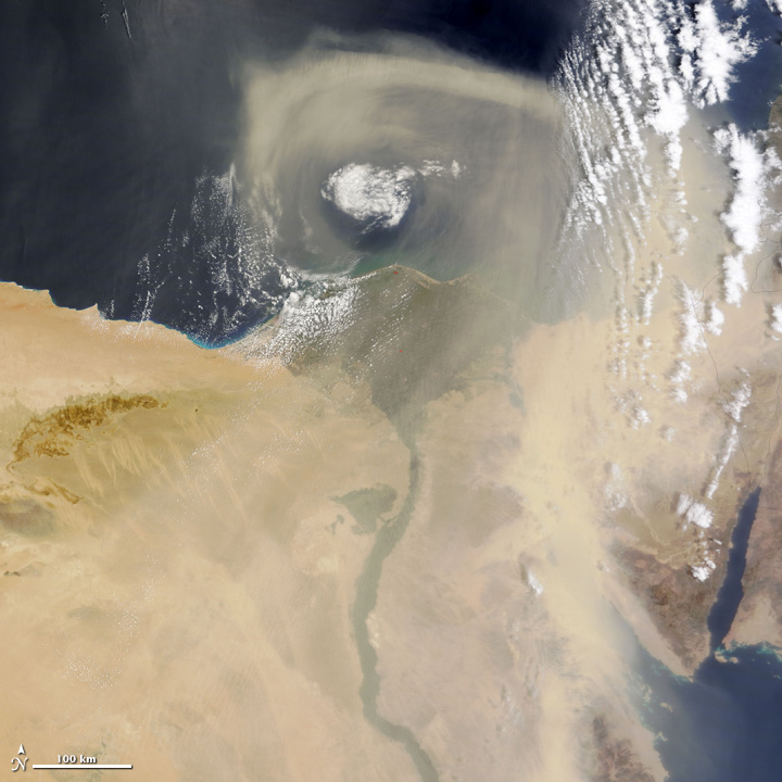 Dust Storm over Egypt and Libya