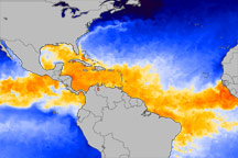 Sea Surface Temperatures at the Start of 2010 Hurricane Season - selected image