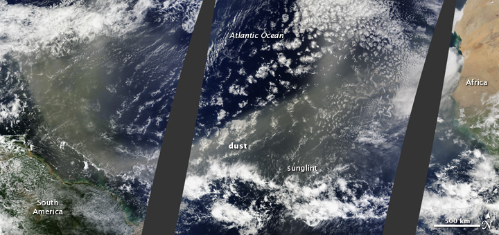 Saharan Dust Crosses the Atlantic