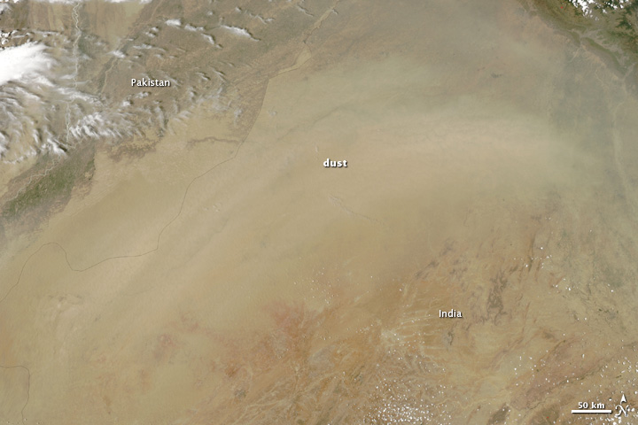 Dust over India