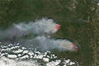 Fires in Alaska and Yukon Territory