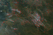 Fires in Angola and Democratic Republic of the Congo