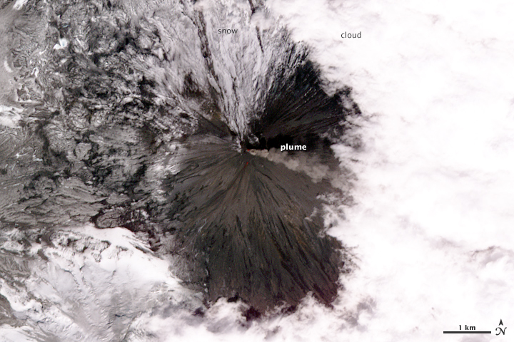 Plume from the Klyuchevskaya Volcano