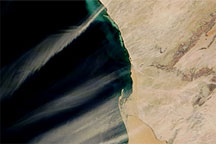 Dust and Hydrogen Sulfide along the Namibian Coast