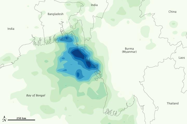 Heavy Rains in Burma and Bangladesh