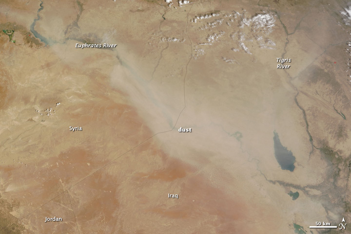 Dust over Syria and Iraq