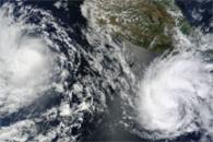 Tropical Storms Blas and Celia