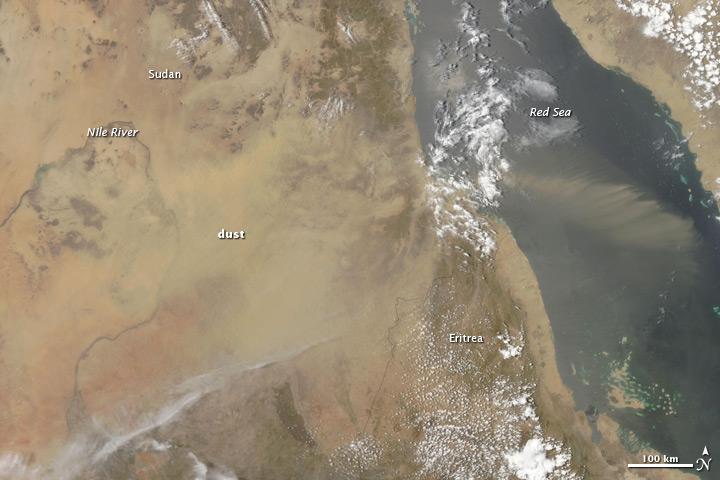 Dust Storm in Sudan