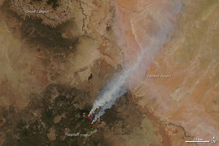 Schultz Fire North of Flagstaff, AZ